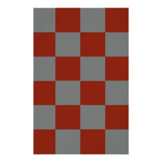Funky Grijze Blokken van Bourgondië Briefpapier