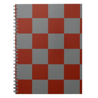 Funky Grijze Blokken van Bourgondië Ringband Notitieboek