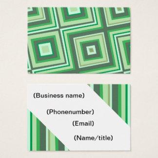 Funky groen visitekaartje visitekaartjes