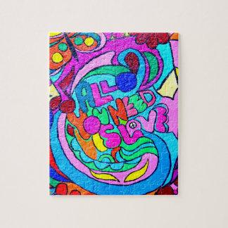 funky hip kleurrijk hippieraadsel legpuzzel