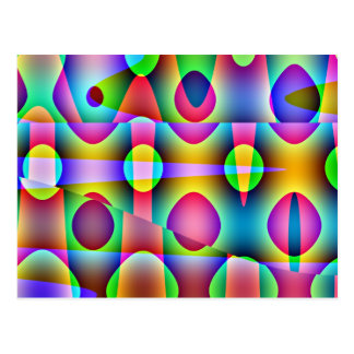 Funky Kleurrijke Samenvatting Briefkaart