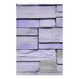 Funky Moderne Lavendel Gestapelde Bakstenen Briefpapier