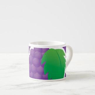 Funky paarse druiven espresso kop
