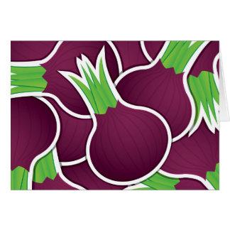 Funky paarse uien wenskaart