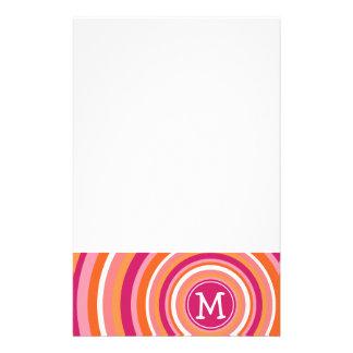 Funky Patroon van de Cirkel met Monogram Briefpapier