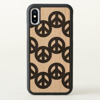 Funky Patroon van het Teken van de Vrede iPhone X Hoesjes 0