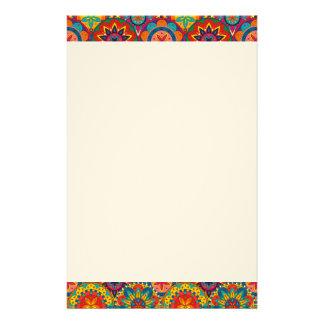 Funky Retro Kleurrijk Patroon Mandala Briefpapier