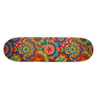 Funky Retro Kleurrijk Patroon Mandala Persoonlijk Skateboard