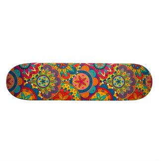 Funky Retro Kleurrijk Patroon Mandala Skateboard Decks
