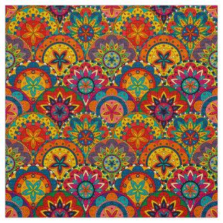 Funky Retro Kleurrijk Patroon Mandala Stof