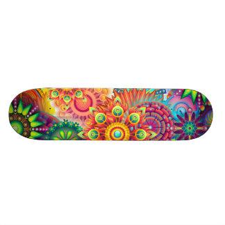 Funky Retro Patroon Abstracte Boho Skateboard