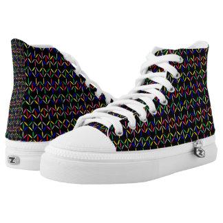 funky retro vette letters op zwarte high top schoenen