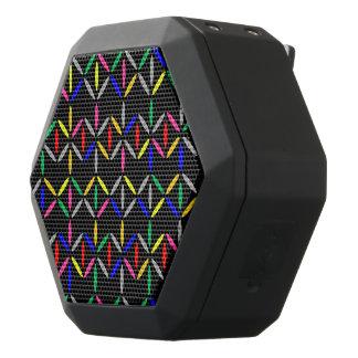funky retro vette letters op zwarte spreker zwarte bluetooth speaker