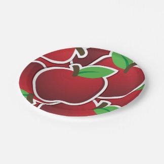Funky rode appelen papieren bordje