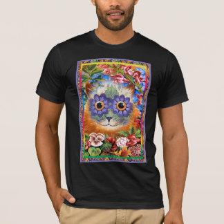 Funky T-shirt van de Kat van de Bloem vintage Wain