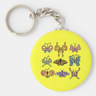 Funky Vlinder Keychain Sleutelhanger