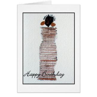 Funky Wenskaart van de Verjaardag van het Meisje
