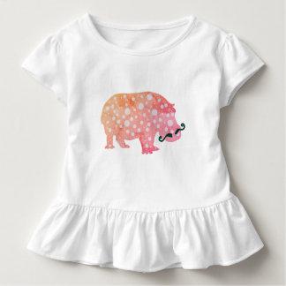 Funky Witte T-shirt van de Ruche van het Nijlpaard