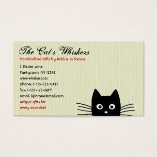 Funky Zwarte Klantgerichte Kat Visitekaartjes
