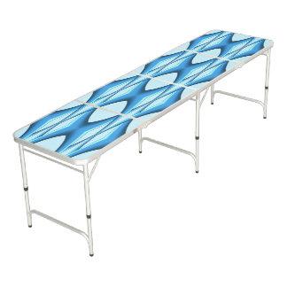 Futuristische Blauwe Boog Beer Pong Tafel
