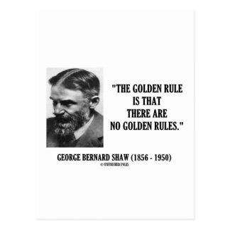 G. beslist B. Shaw Golden Geen Gouden Citaat van Briefkaart