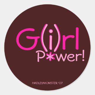 G (I) rl P*wer! Ronde Stickers