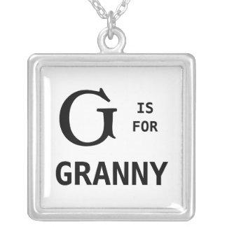 G is Met monogram voor de Tegenhanger van het Mono Zilver Vergulden Ketting