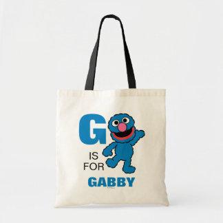 G is voor Grover | toevoegt Uw Naam Draagtas
