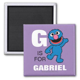 G is voor Grover | toevoegt Uw Naam Magneet
