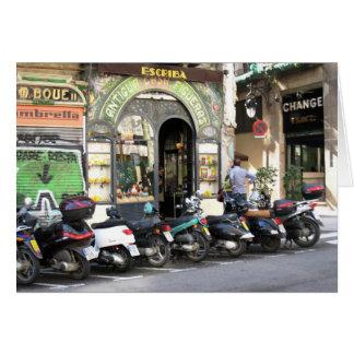g/nc de Autopedden van La Rambla van Barcelona Briefkaarten 0
