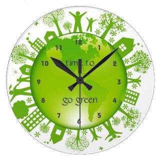 Ga de Groene Klok van de Muur van het Ontwerp van
