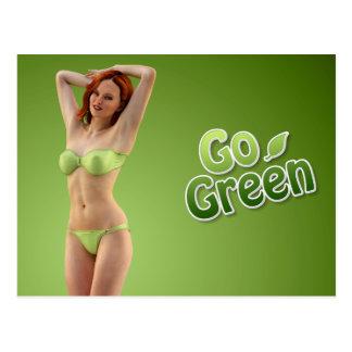 Ga de Groene Schoonheid van het Meisje Briefkaart