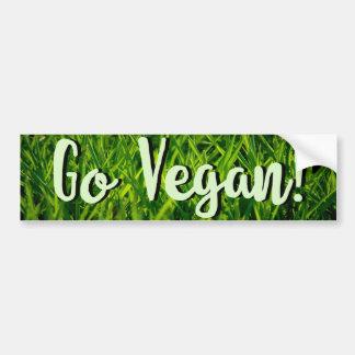 Ga de sticker van de Bumper van de Veganist