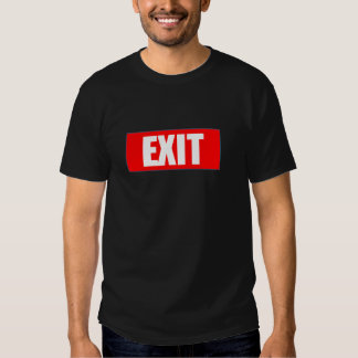 GA de T-shirt van de UITGANG in