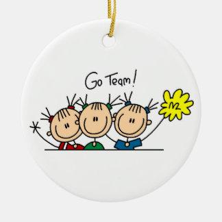 Ga de T-shirts en de Giften van Cheerleaders van Rond Keramisch Ornament