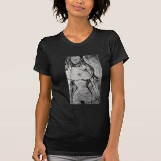 Ga gaan het Vernietigde T-shirt van de Brij Dames
