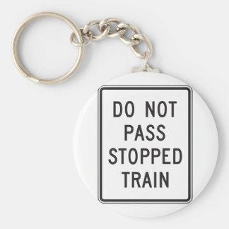 Ga geen Tegengehouden Trein Keychain over Sleutelhanger