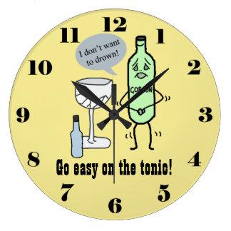 Ga gemakkelijk op het tonicum grote klok