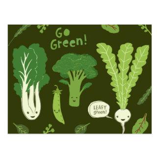 Ga Groen! (Blad Groen!) de Gezonde Groenten van de Briefkaart