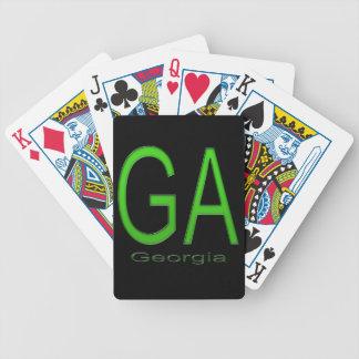 GA groen Georgië Pak Speelkaarten