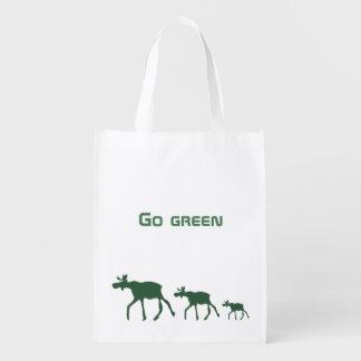 Ga groen met mooses herbruikbare boodschappentas