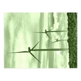 Ga Groen met Windpower Briefkaart