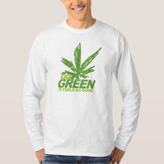 Ga Groen Onkruid T Shirt