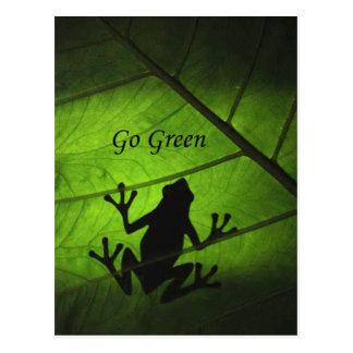 Ga het Groene Aangepaste Briefkaart van de Kikker