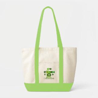 Ga het Groene Canvas tas van het Accent van