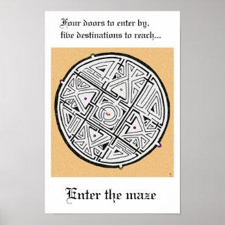 Ga het labyrint in poster
