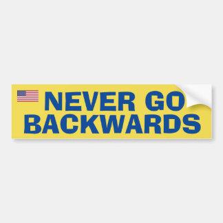 Ga nooit Backwardss Bumpersticker