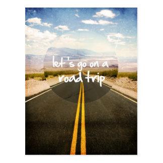 Ga op een wegreis briefkaart