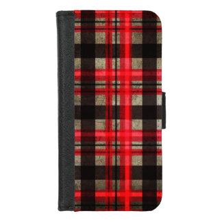 Ga Rode, Zwarte & Grijze Stedelijke Retro Modern iPhone 8/7 Portemonnee Hoesje