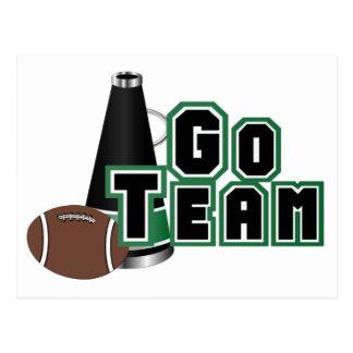 Ga Team in Zwart en Groen met Football Briefkaart